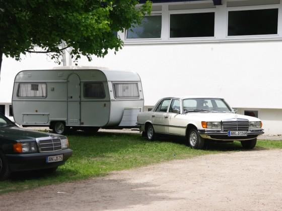 Ornbau Camping,Ww.DEReu,Bj.05.74,W116 280 SE Bj.05.74