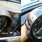 Instrumentengehäuse vor und nach der Restauration