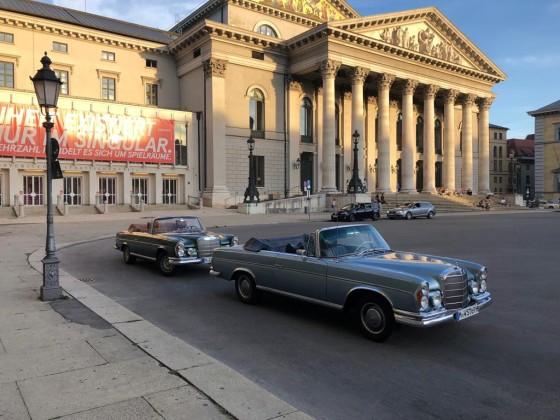 W112 Treffen 2018 Stadtrundfahrt Generalprobe vor der Bayerischen Staatsoper