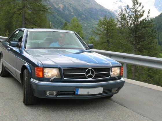 Mit dem 560er über den Passo di Bernina