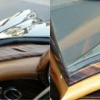 Fensterschlüssel vor und nach der Restauration