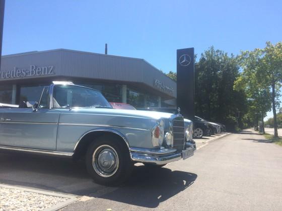 Mein W112 bei meinem Lieblings Mercedes Benz Händler, Automobile Kölbl in Unterschleißheim