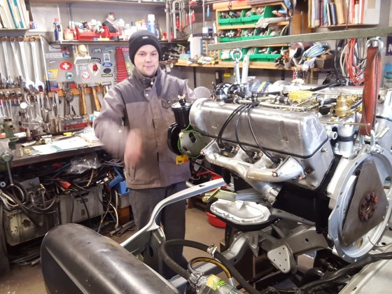 Einbau des totalrevidierten V8s